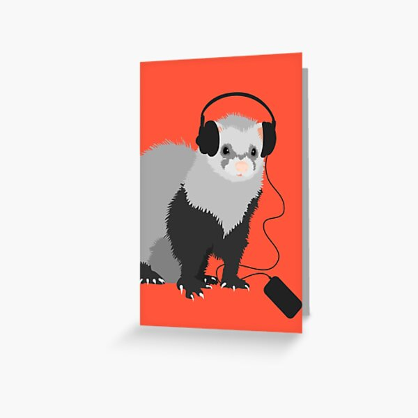 Funny Musical Ferret Greeting Card