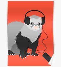 Funny Musical Ferret Poster