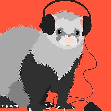 Funny Musical Ferret by azzza