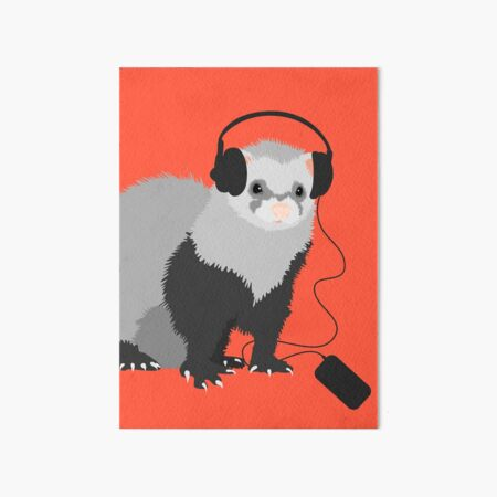 Funny Musical Ferret Art Board Print