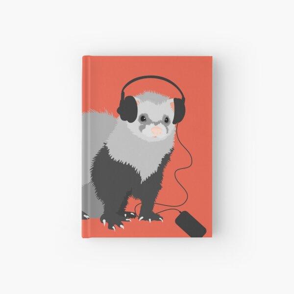 Funny Musical Ferret Hardcover Journal