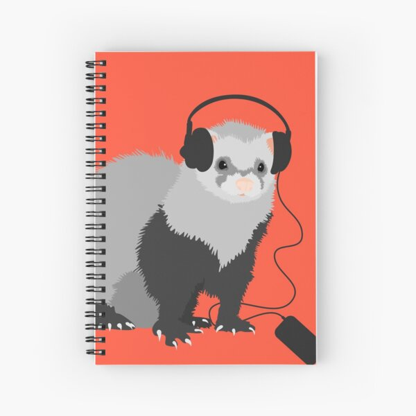 Funny Musical Ferret Spiral Notebook
