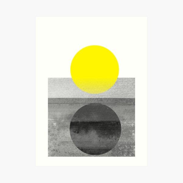 Yellow #abstract  Art Print