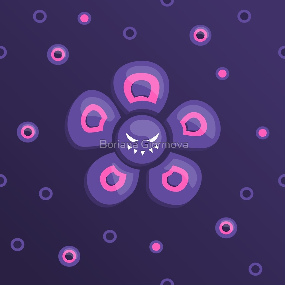 Purple Evil Flower by Boriana Giormova
