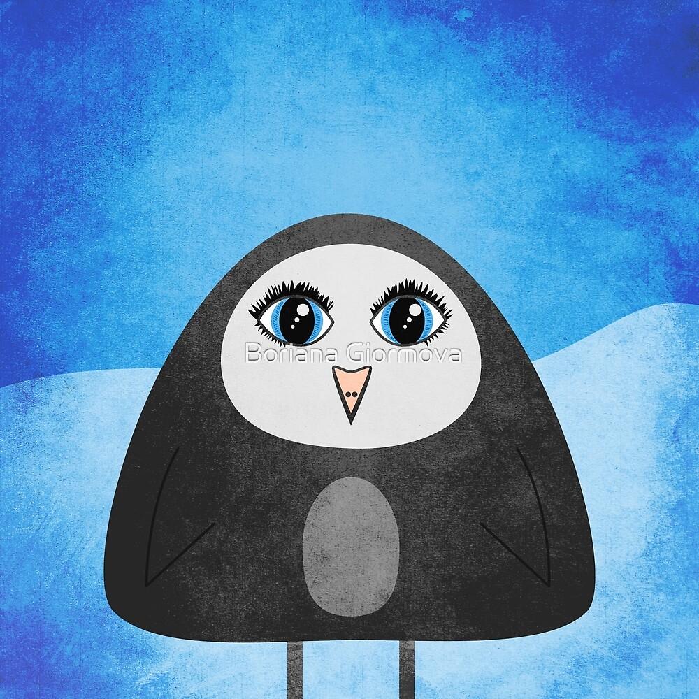 Geometric Cute Cartoon Penguin by Boriana Giormova