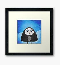 Geometric Cute Cartoon Penguin Framed Print