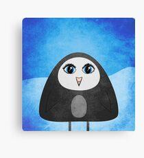 Geometric Cute Cartoon Penguin Canvas Print