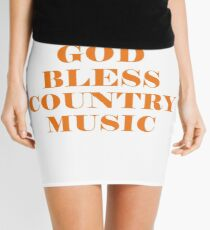 GOD BLESS COUNTRY MUSIC T-SHIRT Mini Skirt