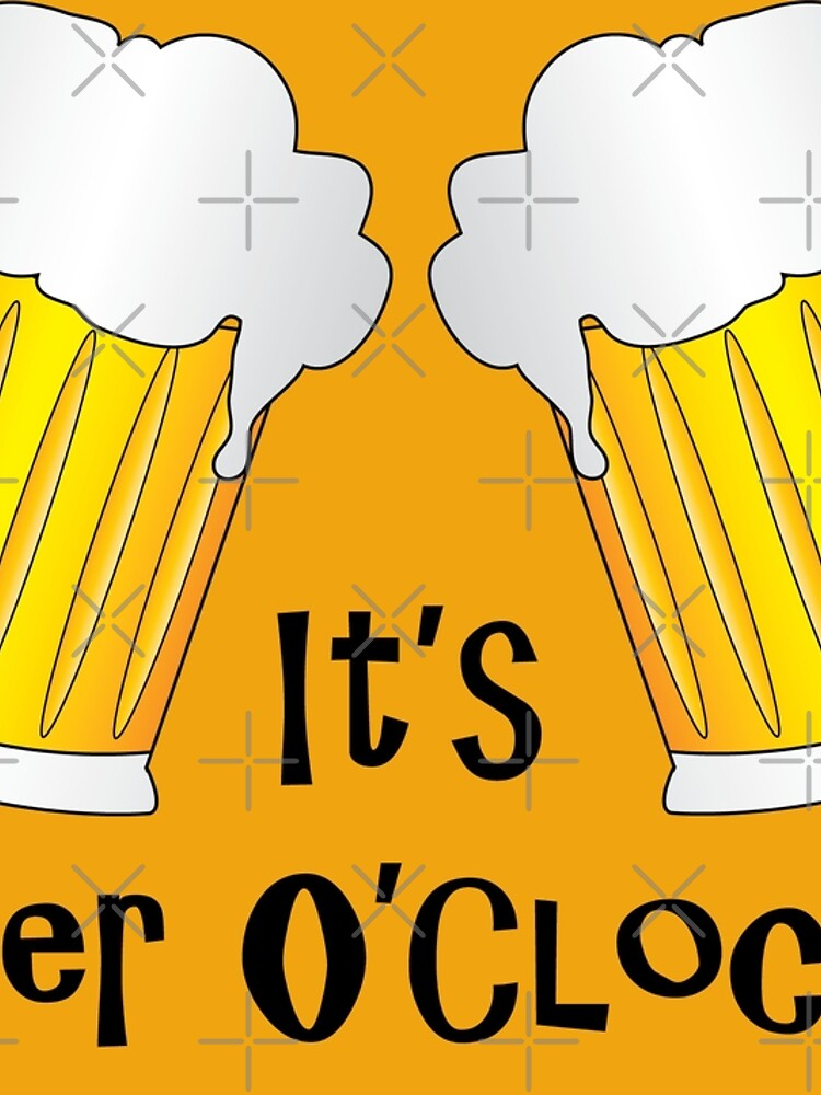 Beer O Clock Funny Oktoberfest Frothy Pint Glasses by CreativeTwins