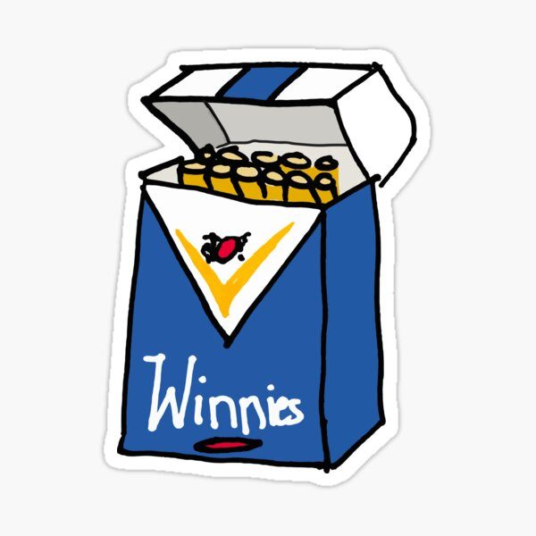 Winnie Blues Sticker