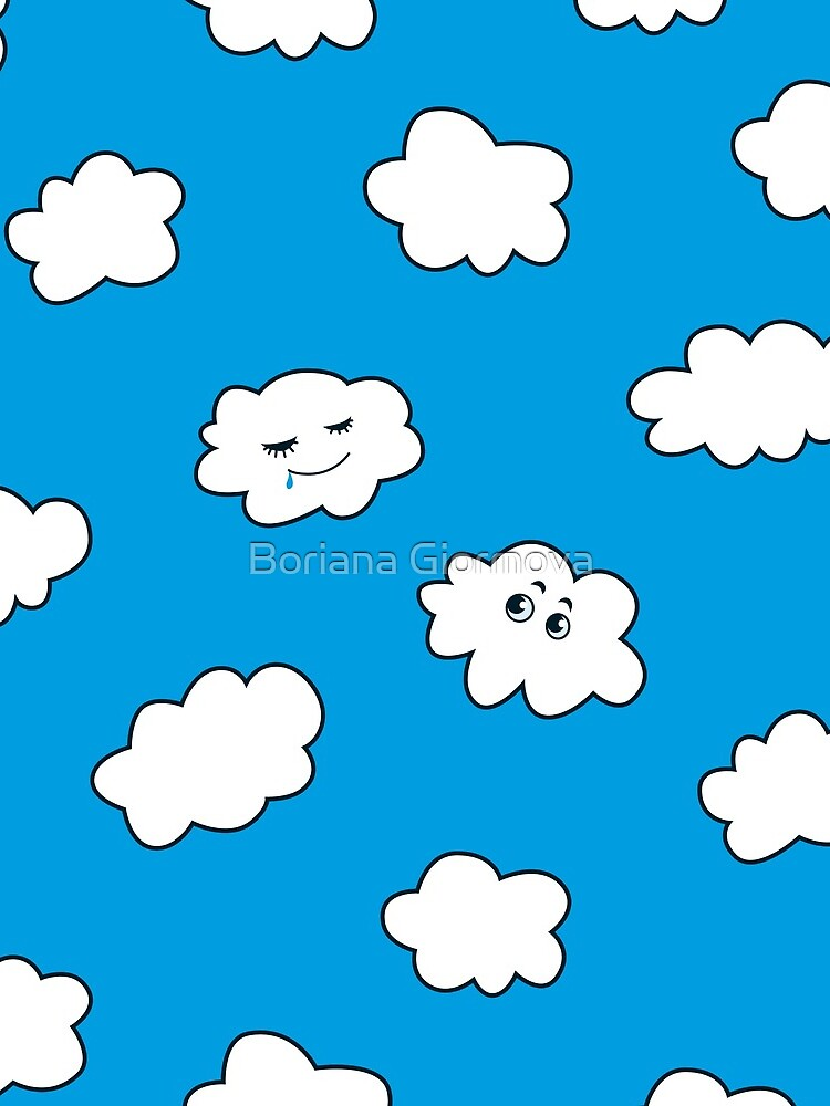 Blue Sky Happy Funny Clouds  by azzza