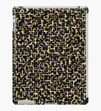 Digital Camo Black White Yellow Pattern iPad Case/Skin