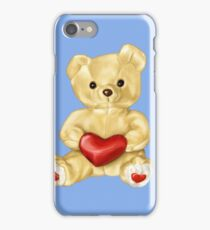 Blue Cute Teddy Bear iPhone Case/Skin