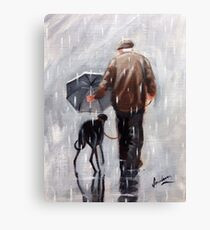 Well he is getting on a bit! Canvas Print