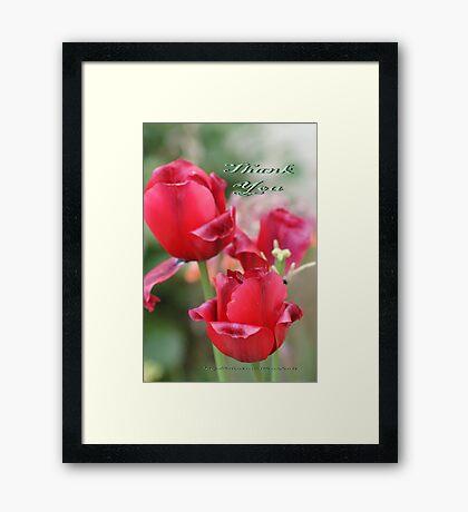 Thank You; Lei Hedger Photography La Mirada, CA USA Framed Print