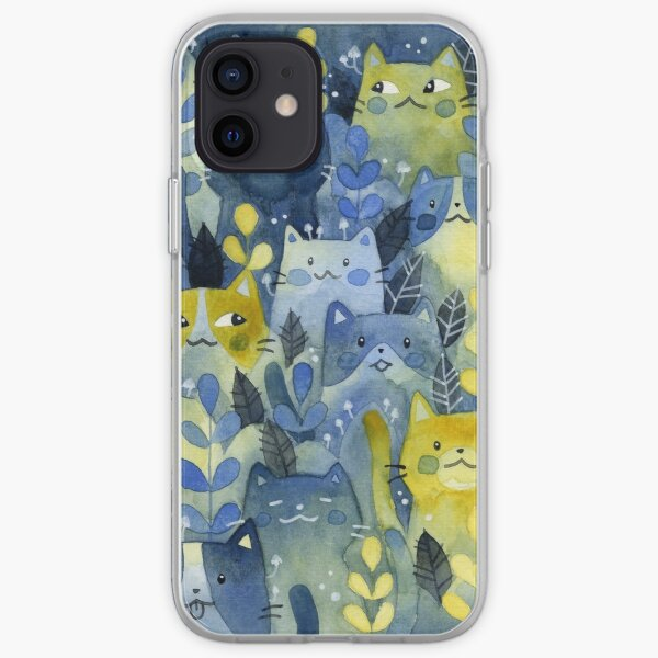 kitty forest iPhone Soft Case