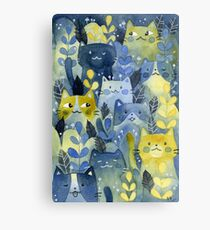 kitty forest Metal Print