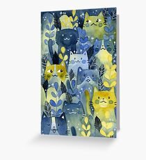 kitty forest Greeting Card