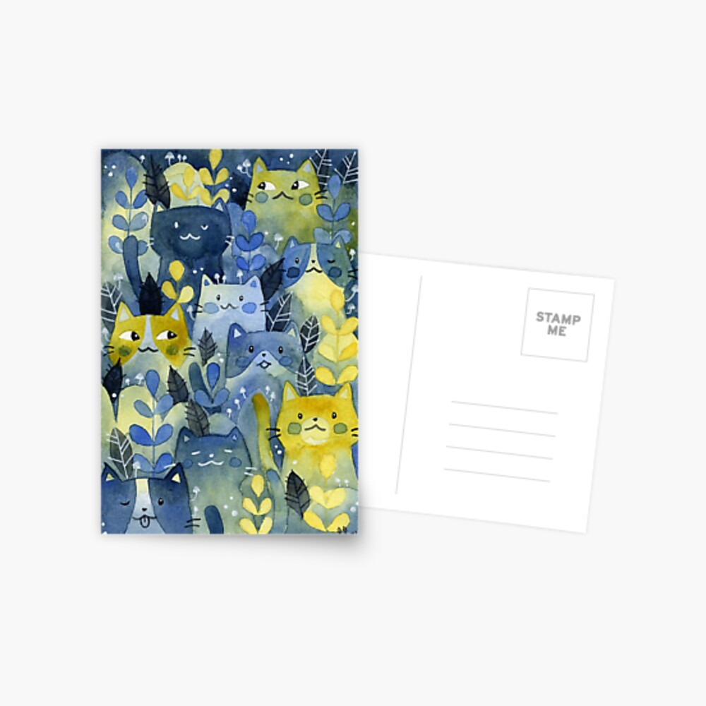 kitty forest Postcard