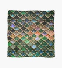 Green Sparkle Faux Glitter Mermaid Scales Scarf