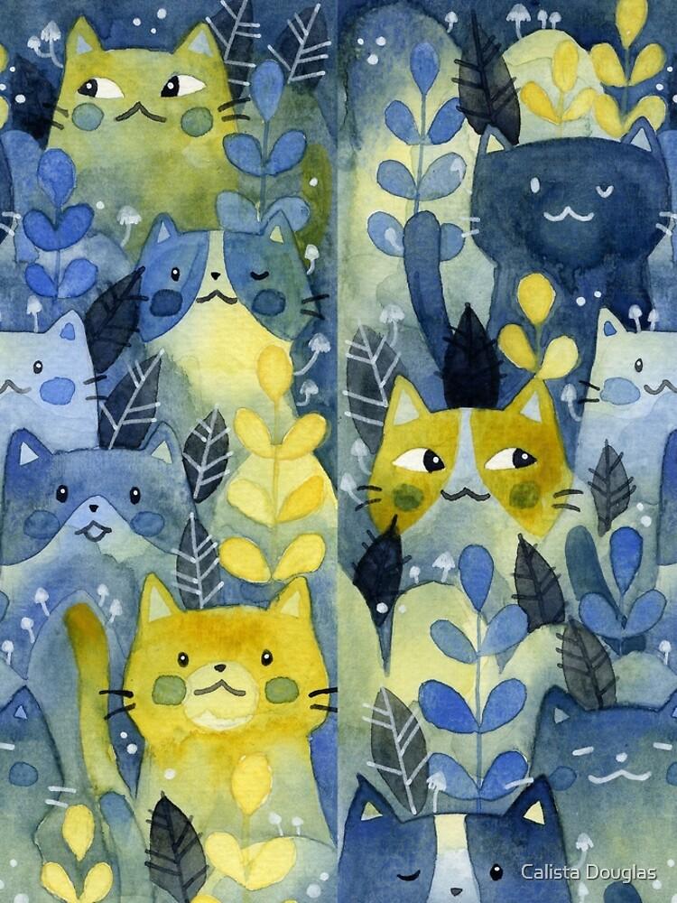 kitty forest by clockworkkite