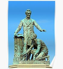Abraham Lincoln Freeing A Slave At The Emancipation Memoria -- 3 Poster