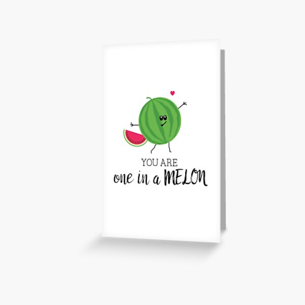 You Are One in a Million Watermelon Fruit Pun Greeting Card
