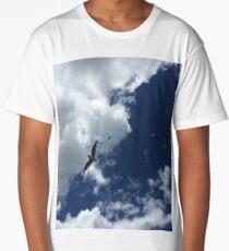 Seabird in the summer sky Long T-Shirt