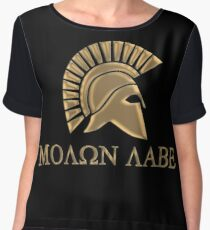 Molon labe-Spartan Warrior Women's Chiffon Top