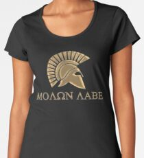 Molon labe-Spartan Warrior Women's Premium T-Shirt