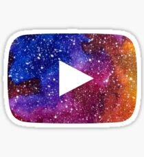 YouTube Play Button Space 2 Sticker