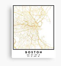 BOSTON MASSACHUSETTS CITY STREET MAP ART Canvas Print
