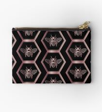 Save the bees Rose Gold, Pink T-Shirt Zipper Pouch