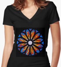 Colour Rondel Women's Fitted V-Neck T-Shirt