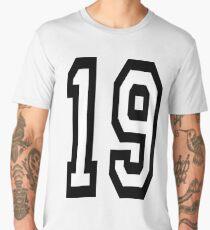19, TEAM SPORTS, NUMBER 19, NINETEEN, NINETEENTH, Competition,  Men's Premium T-Shirt