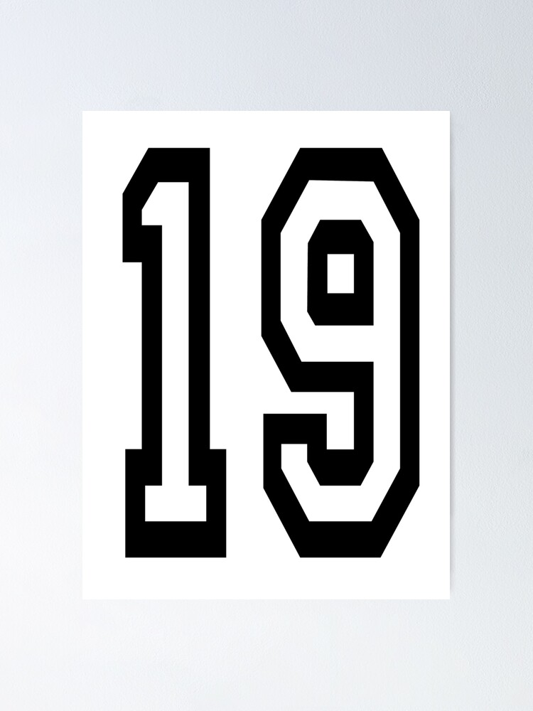Alternate view of 19. 19th. TEAM SPORTS, NUMBER 19, NINETEEN, NINETEENTH, Competition. Poster