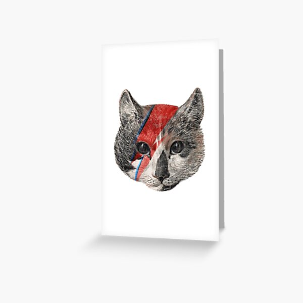 Rock the Bowie Cat Greeting Card
