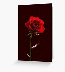 Deadly Red Rose Greeting Card
