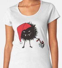 Evil Christmas Bug With Present Women's Premium T-Shirt