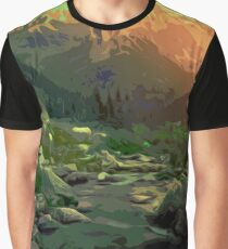 Welcome to Montana - Mountain Landscape Graphic T-Shirt