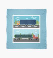 Cargo Transportation. Truck and Trailer. Delivery Trucks. Logistics Transportation. Mode of Transportation. Cargo Truck. Flat style Scarf