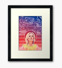 Gillian Anderson - 1968 - US Characters Framed Print