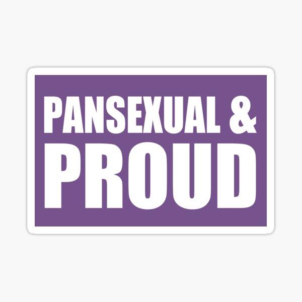 Pansexual & Proud Sticker Sticker