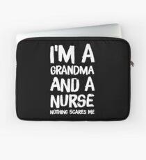 I'm a grandma and a nurse nothing scares me - funny nurse Laptop Sleeve