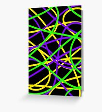 Funky Coloured Cables #1 Greeting Card