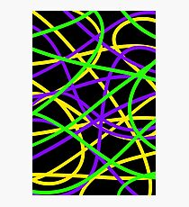 Funky Coloured Cables #1 Photographic Print