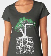 Quadratwurzel Premium Rundhals-Shirt