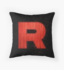 Blast Off Rocket Throw Pillow