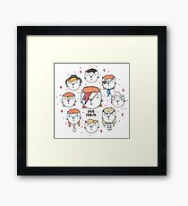 The 9 Lives of David Meowie Framed Print