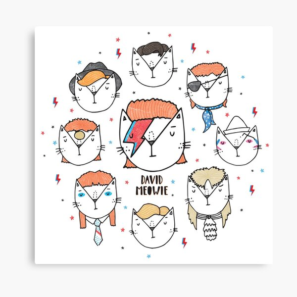 The 9 Lives of David Meowie Canvas Print